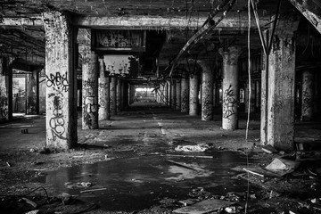 Inside An Old Abandoned Factory In Detroit Michigan