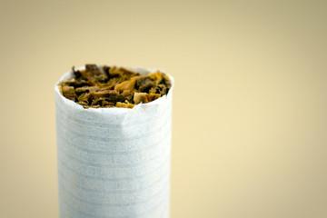Cigarette price concept. Cigarettes close-up