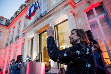 French Dj Pedro Winter attends the 'Fete de la Musique', the music day celebration in the courtyard of the Elysee Palace, in Paris