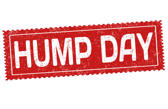 Hump day grunge rubber stamp