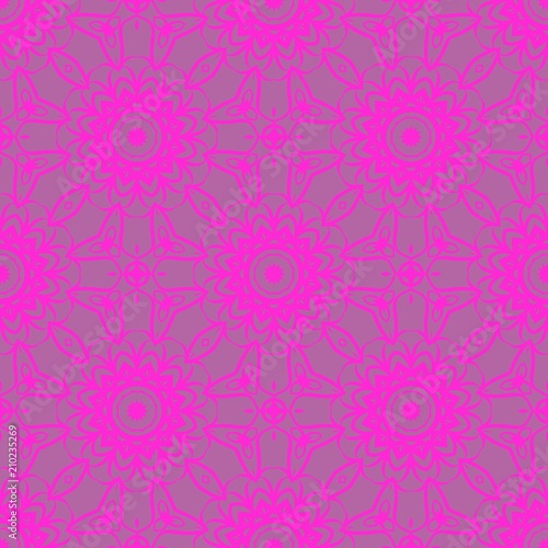 decorative square template for fabric print azhure floral seamless