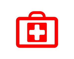 red bag medical medical medicare pharmacy clinic image vector icon logo
