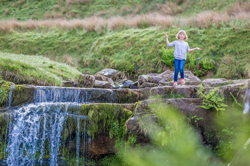 Girl in the national park of Brecon Beacons, Wales