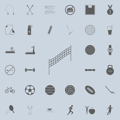volleyball net icon. Detailed set of Sport icons. Premium quality graphic design sign. One of the collection icons for websites, web design, mobile app