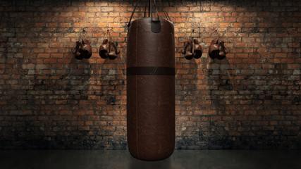 boxing punch bag. 3d rendering