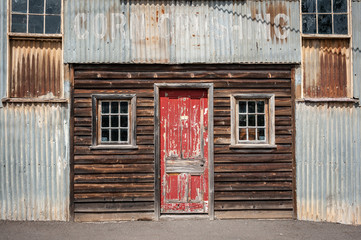 Old corrugated and wood building