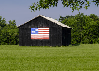 Loudoun County VA patriotic barn