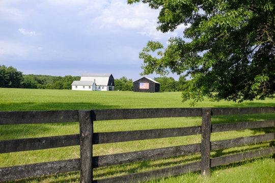 Loudoun County VA patriotic barn