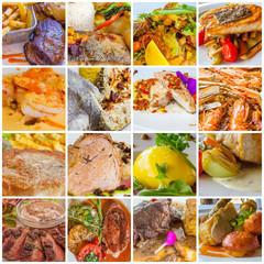 carrés de plats cuisinés
