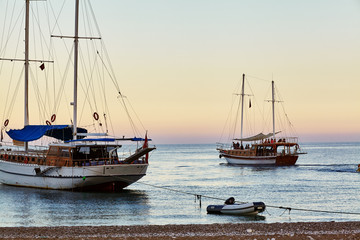 Yacht Sailing on the sea