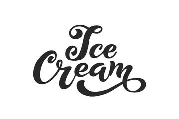 Ice Cream handwritten inscriptions.