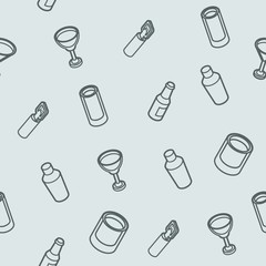 Alcohol outline isometric pattern