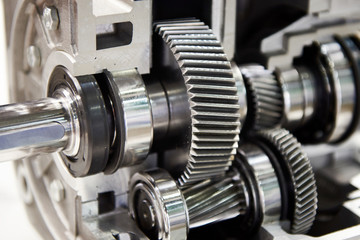Gears of in-line helical gearbox