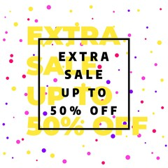 Yellow banner template design, Big sale special offer. Vector illustration.