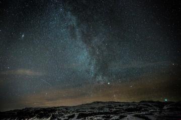 Unsere Milchstraße über Island