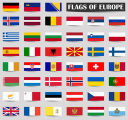 all country flags of Europe
