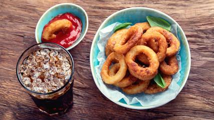 Crunchy fried onion rings