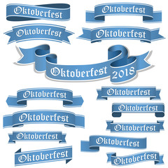 collection of different Oktoberfest 2018 banners