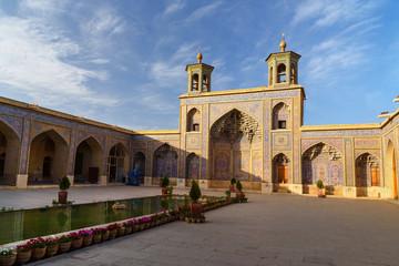 Nasir Ol-Molk mosque, also famous as Pink Mosque. Shiraz. Iran