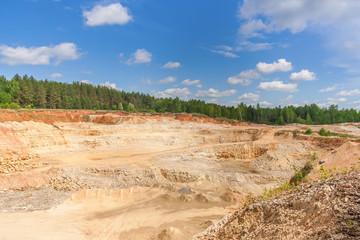 View of sandy quarry