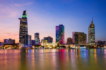 Zelfklevend Fotobehang Asia land Ho Chi Minh city skyline