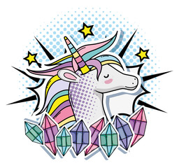 Pop art unicorn