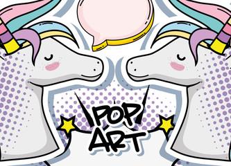 Pop art unicorn