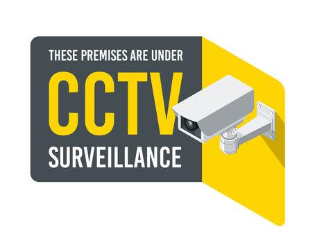 CCTV Camera sign 3D isometric