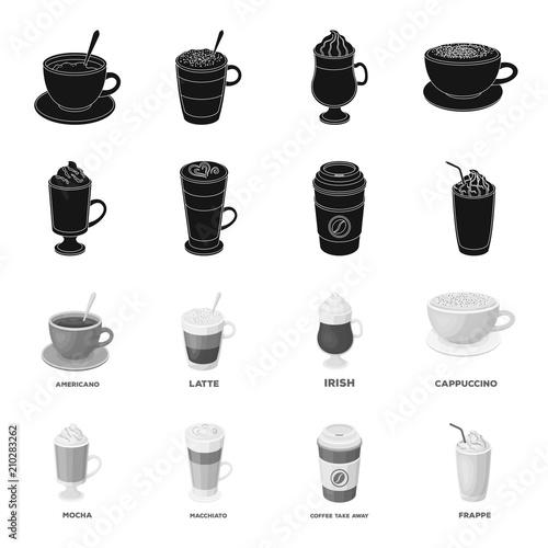 Mocha Macchiato Frappe Take Coffeedifferent Types Of Coffee Set