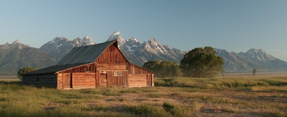 Barn around The Grand Teton National Park 11