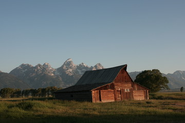 Barn around The Grand Teton National Park 8