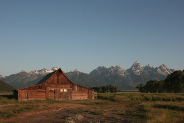 Barn around The Grand Teton National Park 7