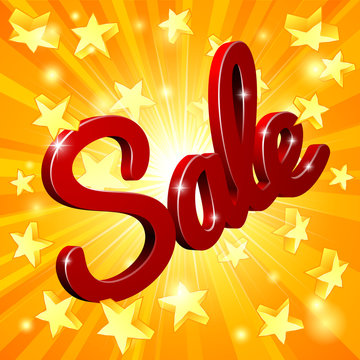 Sale Sign Star Background