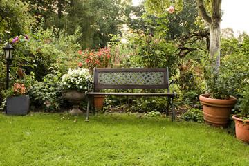 Garten, Gartenbank