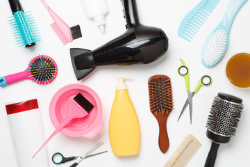 Picture of accessories hairdresser, hair dryer, combs