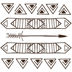 tribal patterns, ethnic cards for design