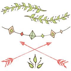 tribal patterns, ethnic cards for design