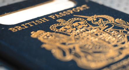 Expired British Passport with Blue Cover