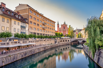 Beautiful city of Ljubljana