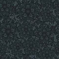 Seamless Orient Pattern made of Ethnic Mandalas. Perfect design for posters, cards, textile, web pages.