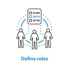 Defining roles concept icon