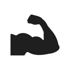 Muscle icon on the white background