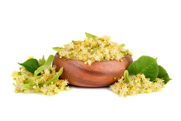 Wall Mural - Linden flowers in plate