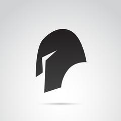 Ancient helmet vector icon.