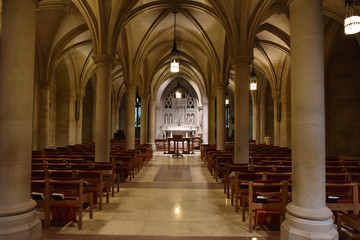 WASHINGTON DC, USA - MAY 17 2018 - Washington Cathedral dome historic church