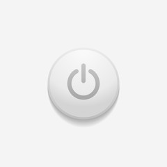 Power button on the white background. Vector illustration
