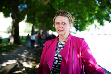 Senior Vice President of Airbus Katherine Bennett poses for a photograph in Victoria Tower Gardens in central London
