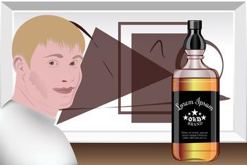 presentation of alcoholic beverages. Design Studio . template preparation. Vector