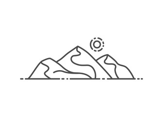 Dune, desert vector illustration outline style
