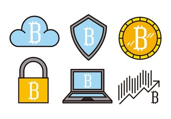 9 Colorful Bitcoin Icons